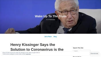 Fact Check: Henry Kissinger Did NOT Say The Solution To Coronavirus Is The 'New World Order'