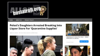 Fact Check: Pelosi's Daughters Were NOT Arrested Breaking Into Liquor Store For 'Quarantine Supplies'