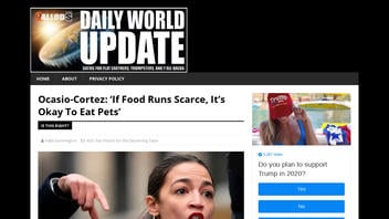 Fact Check: Rep. Alexandria Ocasio-Cortez Did NOT Say 'If Food Runs Scarce, It's Okay To Eat Pets'
