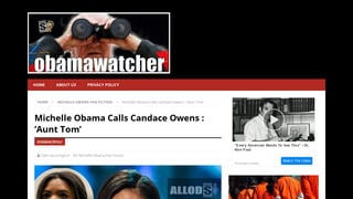 Fact Check: Michelle Obama Did NOT Call Candace Owens : 'Aunt Tom'