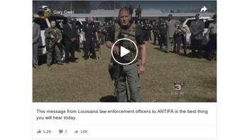Fact Check: Video Message From Louisiana Law Enforcement Officers Is NOT To ANTIFA