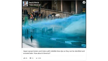 Fact Check: Japan Did NOT Spray Looters and Rioters With Blue Dye So They Can Be Arrested Later