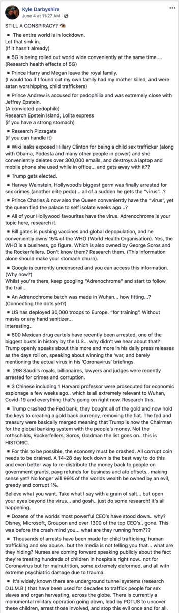 Fact Check: 22-Point Meme Of Conspiracy Memes Is Mix Of Falsehoods, Predictions, And Some Truth