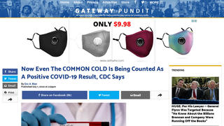 Fact Check: CDC Did NOT Say The Common Cold Is Counted As A Positive COVID-19 Result