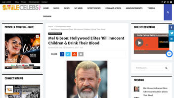 Fact Check: Mel Gibson NEVER Said Hollywood Is Controlled By 'Parasites' Who Are Involved In Child Sacrifice, Pedophilia