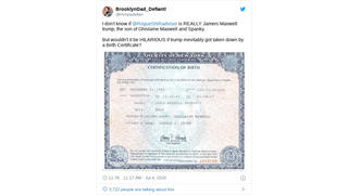 Fact Check: Birth Certificate Does NOT Prove President Trump Fathered A Son With Ghislaine Maxwell In 1992