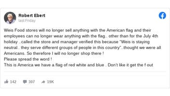 Fact Check: Weis Markets Did NOT Ban The American Flag