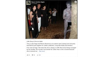 Fact Check: Photo Does NOT Show Lady Gaga Staring At Murdered Model During A Satanic Spirit Cooking Hunt