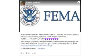 Fact Check: FEMA Is NOT Giving Away $1,000 Checks