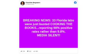 Fact Check: 33 Florida Labs Were NOT 'Just Busted Cooking The Books' On Coronavirus Testing