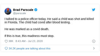 Fact Check: There Was NO Shooting Death Of A Child In Florida Counted As A COVID-19 Death