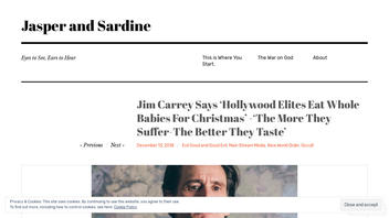 Fact Check: Jim Carrey Did NOT Say 'Hollywood Elites Eat Whole Babies For Christmas' - 'The More They Suffer - The Better They Taste'