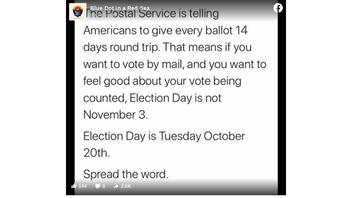 Fact Check: The U.S. Postal Service IS Telling Americans To Request Mail-In Ballots At Least 15 Days Before The Election