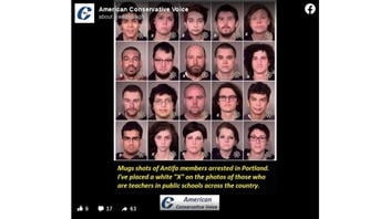 Fact Check: No Evidence These People Arrested In Portland In 2017 Are Public School Teachers Or Antifa Or Both