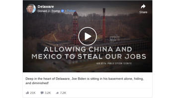 Fact Check: Joe Biden Was NOT Alone, Nor Was He In His Delaware Basement In Image Altered For Trump Ad
