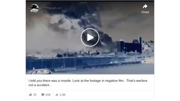 Fact Check: 'Crude Fake' Video Does NOT Show A Missile Incoming Before Beirut Explosion