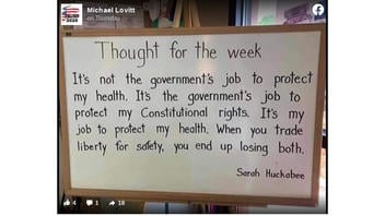 Fact Check: Sarah Huckabee Sanders Did NOT Tweet 'It's Not The Government's Job To Protect My Health'