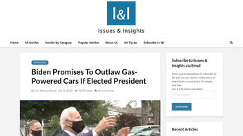 Fact Check: Joe Biden Has NOT Promised To Outlaw Gas-Powered Cars If Elected President