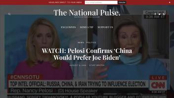 Fact Check: Nancy Pelosi Did NOT 'Confirm China Would Prefer Joe Biden'