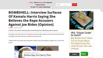 Fact Check: Kamala Harris Said She Believed Women Who Said They Felt 'Uncomfortable' By Biden Touching -- NOT 'Rape Accusers'