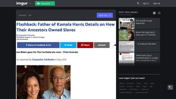 Fact Check: Kamala Harris Descended From A Slave Owner, But It's Not 'An Inconvenient Part Of Her History' Or A 'Deep, Dark Secret' That 'Could Come Back To Haunt Her'