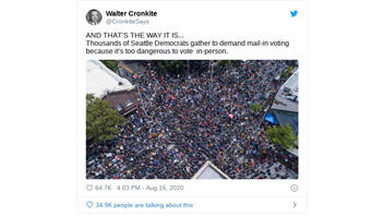 Fact Check: Thousands of Seattle Democrats Did NOT Unsafely Gather To Demand Protection From COVID-19 Risks of In-Person Voting