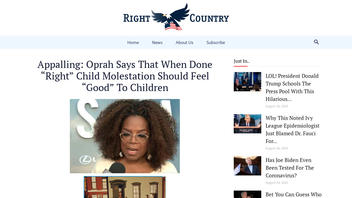 Fact Check: Oprah Did NOT Say When Done 'Right' Child Molestation Should Feel 'Good' To Children