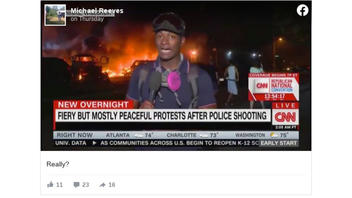 Fact Check: CNN DID Use The Chyron 'Fiery But Mostly Peaceful Protests After Police Shooting'