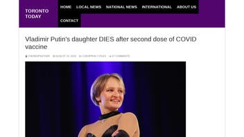 Fact Check: Vladimir Putin's Daughter Did NOT Die After Second Dose Of COVID-19 Vaccine