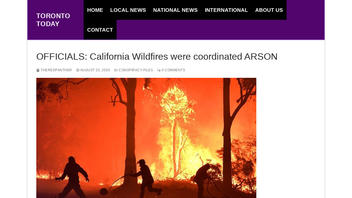 Fact Check: Officials Did NOT Say California Wildfires Were Coordinated Arson