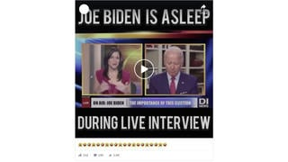 Fact Check: Joe Biden Did NOT Fall Asleep During Live TV Interview -- Video is Faked
