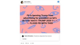 Fact Check: Facebook Did NOT Ban All Trump Advertising