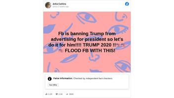 Fact Check: Facebook Did NOT Ban All Trump Advertising