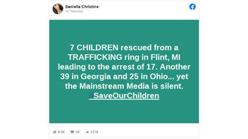 Fact Check: 'Main Stream Media' Is NOT Silent On Children Rescued From Sex Trafficking In Michigan, Georgia And Ohio