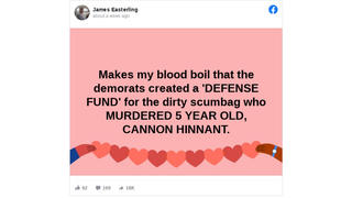 Fact Check: 'Demorats' Did NOT Create 'Defense Fund' For Neighbor Accused In Cannon Hinnant Murder