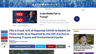 Fact Check: The CDC Did NOT Fraudulently Count Poisoning, Trauma And Unintentional Injuries In COVID Death Tally