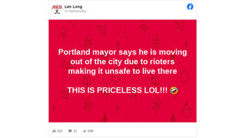 Fact Check: Portland Mayor Did NOT Say He Is Moving Out Of The City Due To Rioters