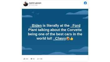 Fact Check: Joe Biden Did NOT Say Chevrolet's Corvette 'Is One Of The Best Cars In The World' While Visiting A Ford Plant