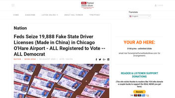 Fact Check: Fake State Driver Licenses Seized By Feds In Chicago Are NOT Implicated In A Voting Fraud Scheme