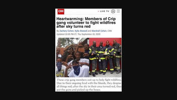 Fact Check: Members Of Crip Gang Did NOT Volunteer To Fight Wildfires Because The Sky Is Red