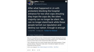 Fact Check: Protesters Did NOT Block Hospital Entrance Before Arrival Of Ambulances Transporting Wounded Officers