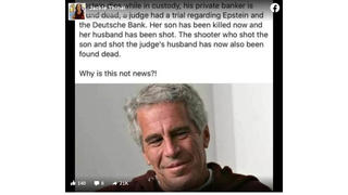 Fact Check: Epstein's Private Banker NOT Found Dead; Murder Of Judge's Son Not Related To Epstein Case