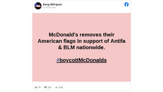 Fact Check: McDonald's Did NOT Remove American Flags In Support Of Antifa And BLM
