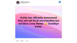 Fact Check: Kohl's DOES Sell Blue Lives Matter Apparel
