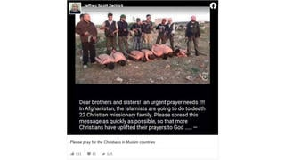 Fact Check: 22 Christians Did NOT Get Executed By Afghan Islamic Rebels -- Photo Is From Syria In 2013