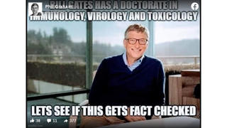 Fact Check: Bill Gates Does NOT Have A Doctorate In Immunology, Virology And Toxicology