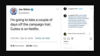 Fact Check: Biden Did NOT Say He Was Taking Time Off From Campaign For The Film 'Cuties'