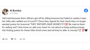 Fact Check: Breonna Taylor's Family Settlement Is NOT Connected To No Charges For Police Officers