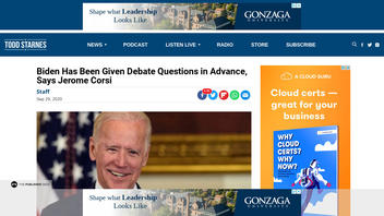 Fact Check: Radio Host Provides NO Evidence Joe Biden Was Given Debate Questions Ahead of First Debate with Trump