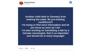 Fact Check: NO Evidence Mask-wearing Killed A German Schoolchild